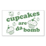 Cupcakes Are Da Bomb Rectangle Sticker