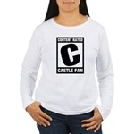 Content Rated C: Castle Fan Women's Long Sleeve T-Shirt