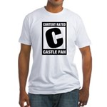 Content Rated C: Castle Fan Fitted T-Shirt