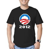 A simple design with a powerful message: re-elect President Barack Obama in 2012.
