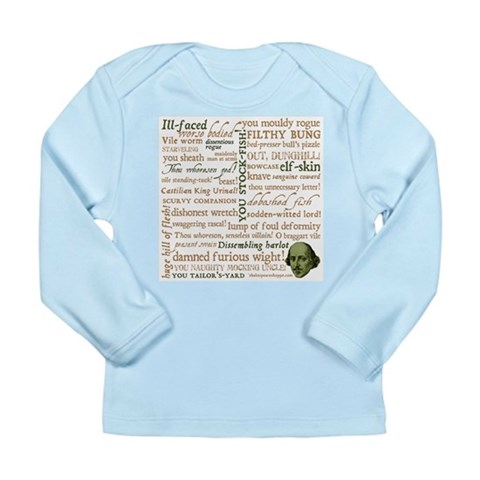 Shakespeare Insults Long Sleeve Infant T-Shirt