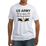 Army My Nephew is defending Fitted T-Shirt