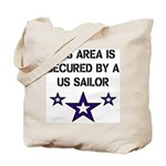 AREA SECURED US SAILOR Tote Bag