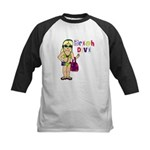 Beach Diva Kids Baseball Jersey