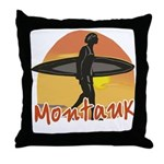 Surf Guy Montauk Throw Pillow