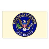 Licensed Bird Bander Sticker (Rectangle)