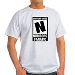 Content Rated N: Numb3rs Fan Light T-Shirt