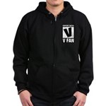 Content Rated V: V Fan Zip Hoodie (dark)