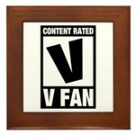 Content Rated V: V Fan Framed Tile