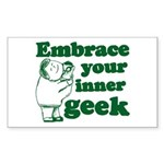 Embrace Your Inner Geek Rectangle Sticker