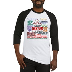 Dexter Quotes Collage Baseball Jersey