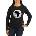 Africa Women's Long Sleeve Dark T-Shirt