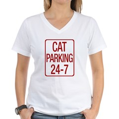 Cat Parking Women's V-Neck T-Shirt