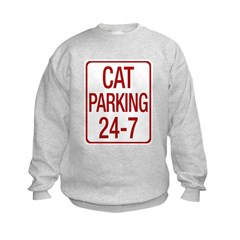 Cat Parking Kids Sweatshirt