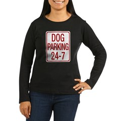 Dog Parking Women's Long Sleeve Dark T-Shirt