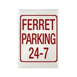 Ferret Parking Rectangle Magnet
