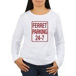 Ferret Parking Women's Long Sleeve T-Shirt
