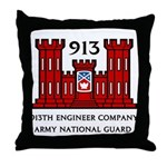 913th Engineer Company Throw Pillow