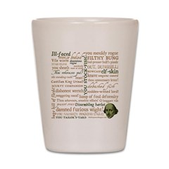 Shakespeare Insults T-shirts & Gifts Shot Glass