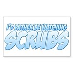 I'd Rather Be Watching Scrubs Sticker (Rectangle 10 pk)