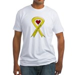 I love my Sailor - Yellow Ribbon Fitted T-Shirt