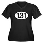 1.31 Women's Plus Size V-Neck Dark T-Shirt