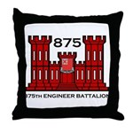 875th Engineer Battalion - Army Throw Pillow