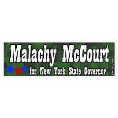Malachy McCourt for Governor Bumper Sticker