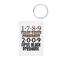 US Firsts: 1789-2009 Aluminum Photo Keychain