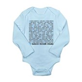 All Presidents up to Obama Long Sleeve Infant Body