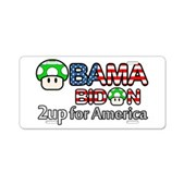 2up for America Aluminum License Plate