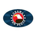 Obama For Peace 20x12 Oval Wall Decal