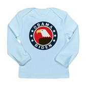 Obama-Biden Eagle Long Sleeve Infant T-Shirt