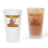 Fist Bump for Obama Pint Glass