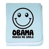 Obama Makes Me Smile baby blanket