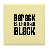 Barack the New Black Tile Coaster