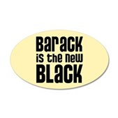 Barack the New Black 22x14 Oval Wall Peel