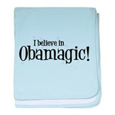 I Believe in Obamagic baby blanket