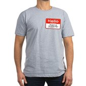 Obama Supporter Name Tag Men's Fitted T-Shirt (dar