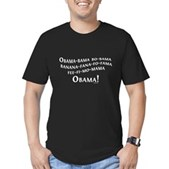 Obama Name Game Men's Fitted T-Shirt (dark)