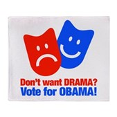 Vote Obama: No Drama! Stadium Blanket