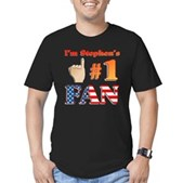 I'm Stephen's #1 Fan Men's Fitted T-Shirt (dark)