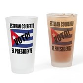 Voto! Esteban Colberto Pint Glass