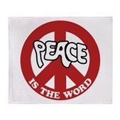 Peace is the word Stadium Blanket
