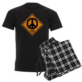 Peace Ahead Men's Dark Pajamas