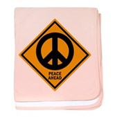 Peace Ahead baby blanket