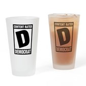 Content Rated Democrat Pint Glass