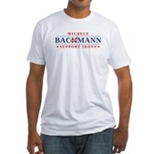 Anti-Bachmann Irony Fitted T-Shirt