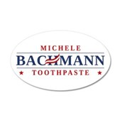 Funny Bachmann Toothpaste 38.5 x 24.5 Oval Wall Pe