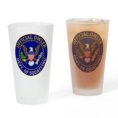 Official Owling Dept Seal Drinking Glass